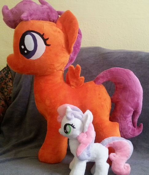 Pony Plushies - Page 4 Giant_scootaloo_wip_and_sweetie_belle_by_arualsti-d6m3x6y