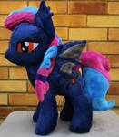 Night Weaver OC pony plushie by Arualsti