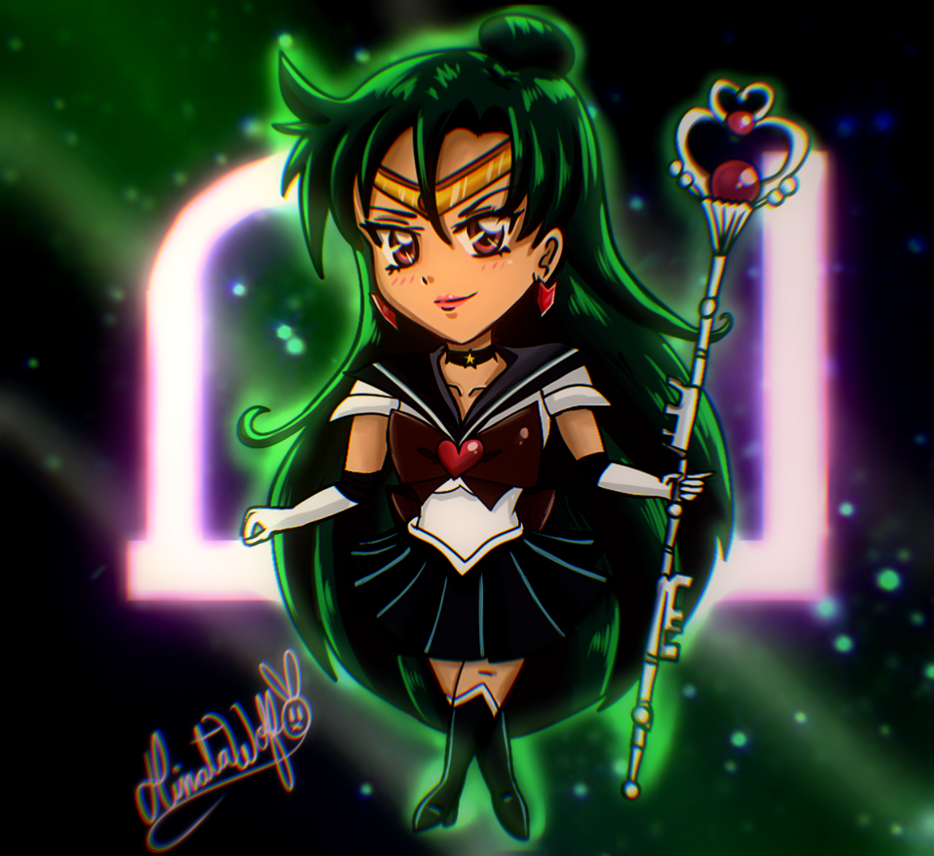 Sailor Pluto SemiChibi Version by Hinata1495