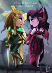 Kayle and Morgana by Hinata1495