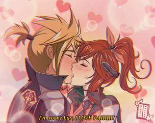 Battle Academia Lux and Ezreal by Hinata1495