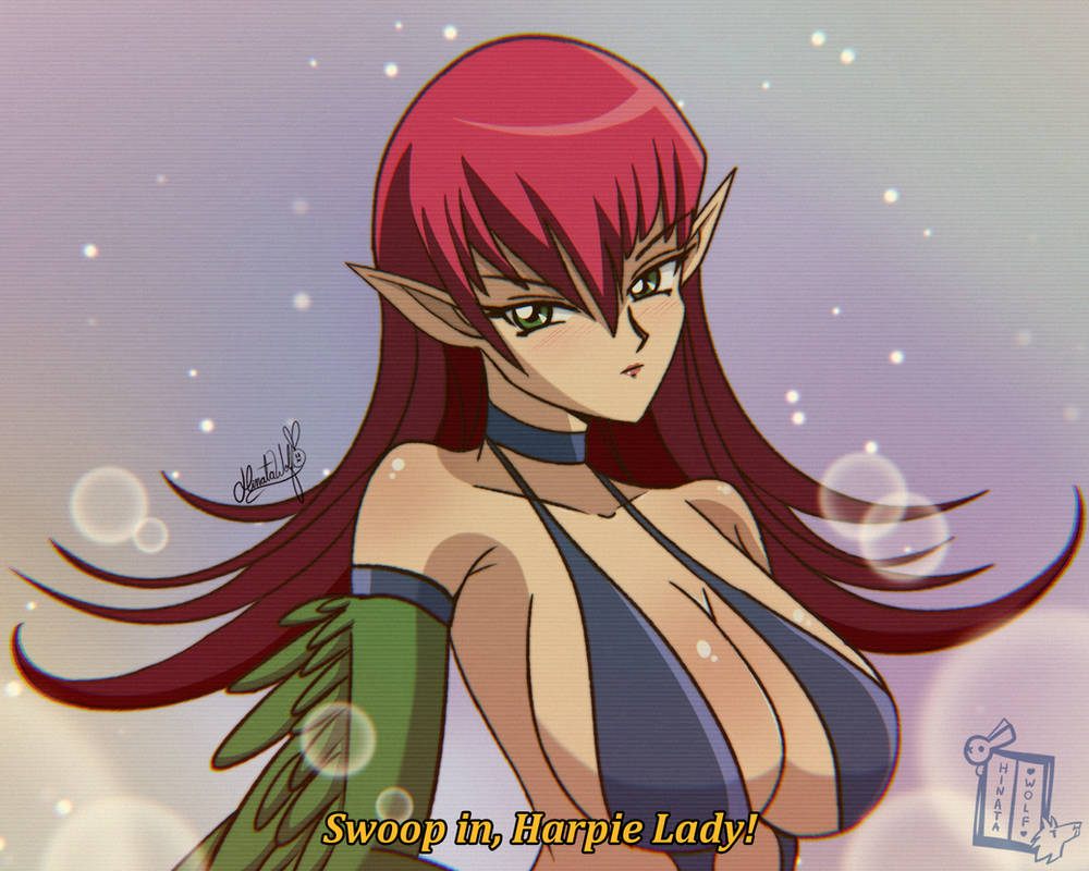 Harpie Lady (Card uncensoured) by Hinata1495