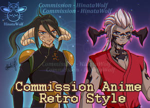 Commission Oc's Anime Retro Style (Fullbody)