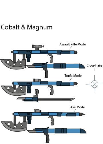 Cobalt and Magnum by joshwolf999