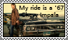 My ride is a 1967 Impala Stamp by RoseOnYourNose