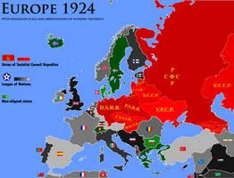 Proletarian Century: Europe, 1924 by K-Haderach