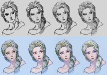 Elsa step by step by gooloo0-o