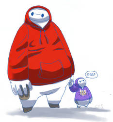Baymax, little max by Mechasupial