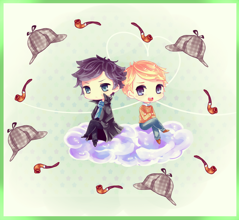 :: SH_Chibi: Sherlock and John :: by Anniih