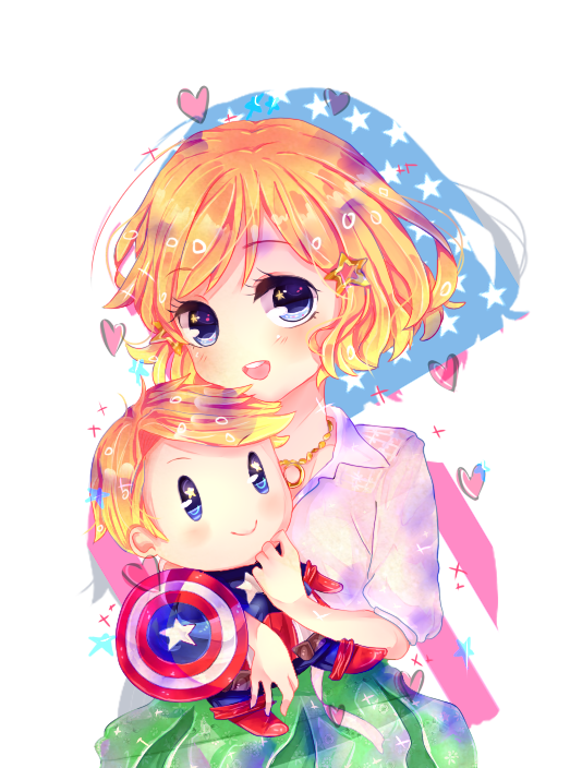 [[ APH: Nyo!US-TeddyCaptain America ]] by Anniih