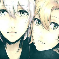 Arikawa and Misaki looking at the sky