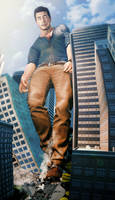 Giant Nathan Drake - Catastrophic Growth Spurt