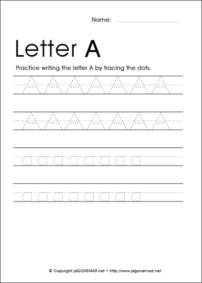 Number Names Worksheets : alphabet traceables ~ Free Printable ...