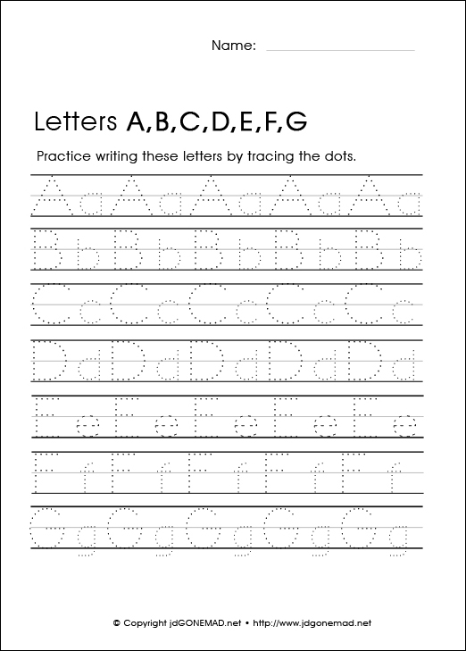 Letter Tracing Sheets. Tracing Uppercase Letters Capital Letters ...
