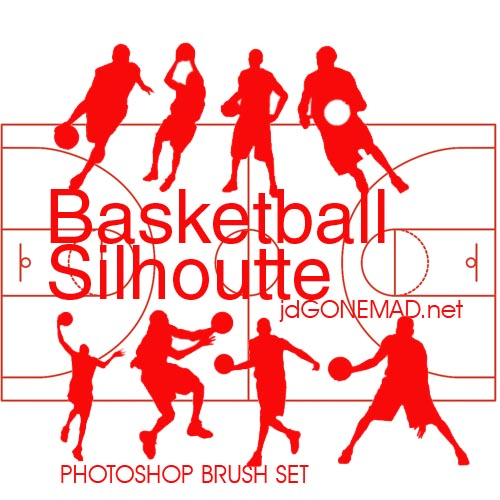 High Quality Basketball Silhouette Photoshop Brush by