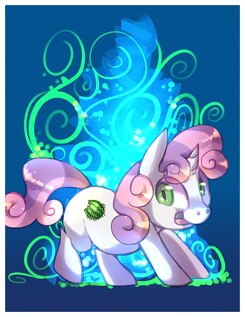 sweetie belle meets cutie mark by cappydarn