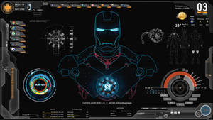 Shield-IronMan-Jarvis Rainmeter Theme (Screenshot)