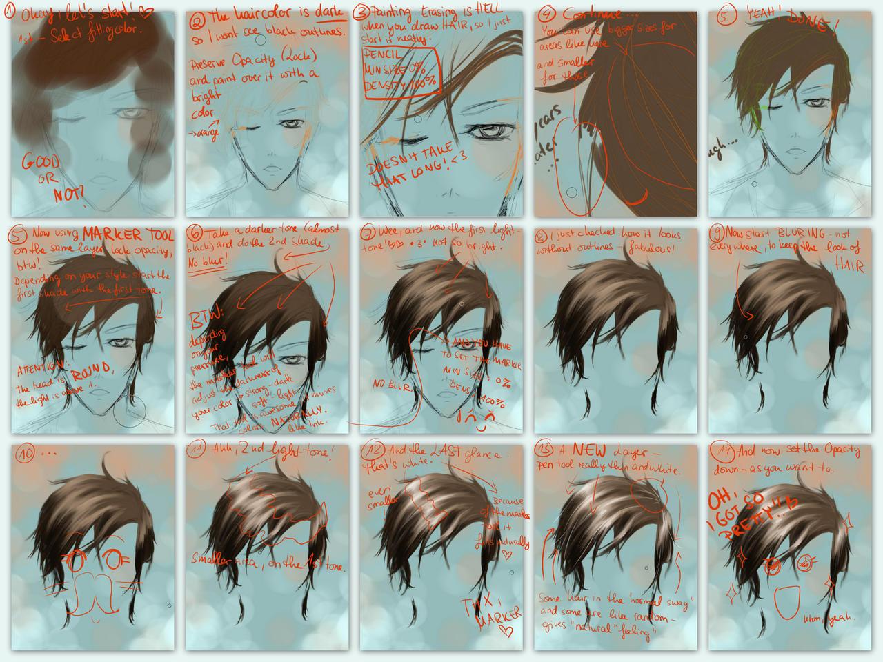 Hair tutorial by haneynozuka on deviantart the hair tutorial by haneynozuka the hair tutorial by haneynozuka baditri Images