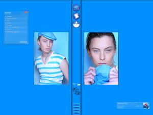 blue tatoo screen...
