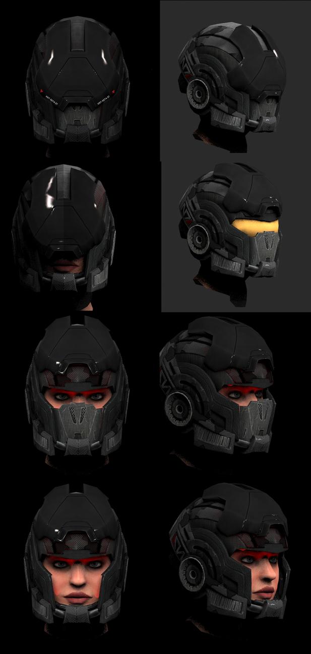 Hellhound helmet concept by Mishai