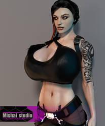 Lara Croft cosplay for Halloween 2018