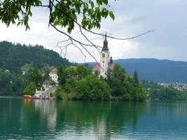 Church on the island in the Bled's lake