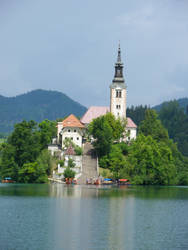 Church on the island in the Bled's lake 2