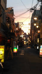 sunset in Asakusa