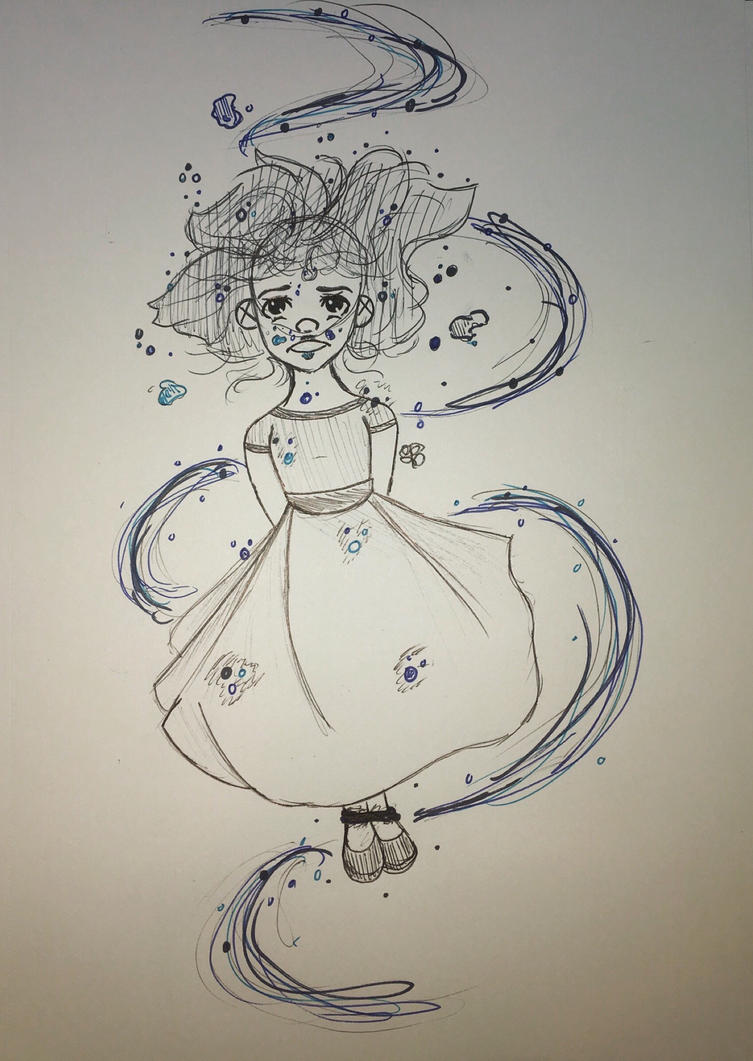 Inktober day 4- underwater  by GinaTheTaco