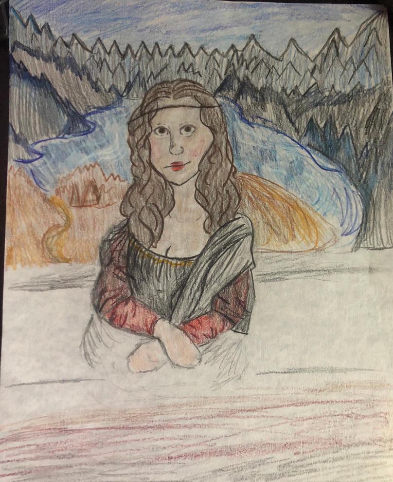 Mona Lisa redrawn  by GinaTheTaco