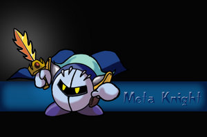 Meta Knight with Galaxia by warpstar99