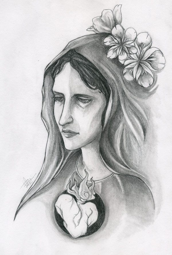 Tattoo Design Mother Mary By Itsmalibee On Deviantart