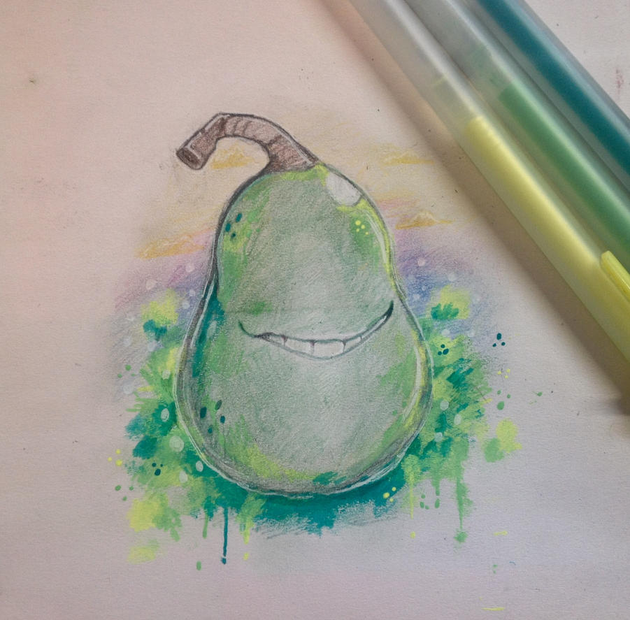 April fools pear by TripleTartArt3