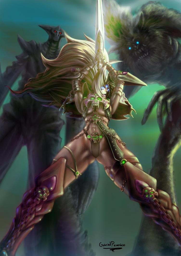 Safira VS Monsters Ornigontos by Pesonico