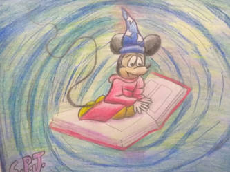 Mickey finds himself in a whirlpool by Romethehybrid