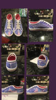 Painted shoes with my youngest niece