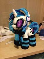 DJ Pon3 Pony Plush Handmade Custom My Little Pony by Burgunzik