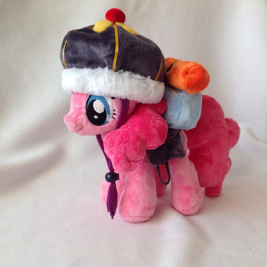 Pinkie Pie Plush Handmade Custom My Little Pony by RufousCat