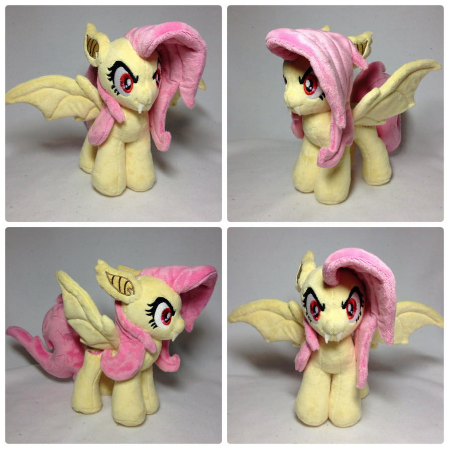 Plushie Flutterbat with open wings by RufousCat