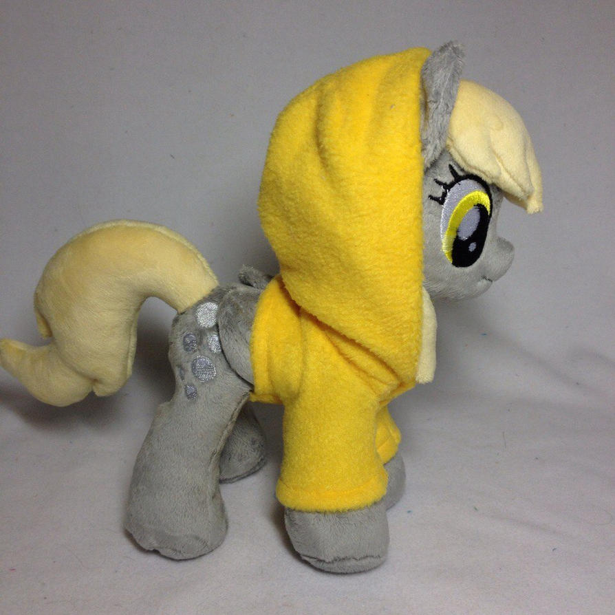 Plushie Derpy Hooves in removable fleece hoodie by RufousCat