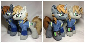 Two Version of Plushie Littlepip