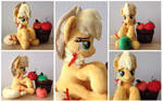 Plushie Applejack with plushie apples
