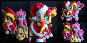 Sunset Shimmer, Pinkie Pie and AJ plushies