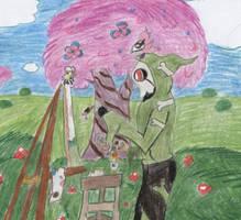 Light Fairy Cherry Painting