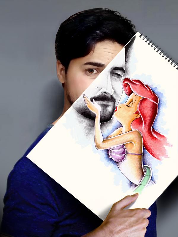 mermaid kiss - Copy (2) by mokhallad-habib