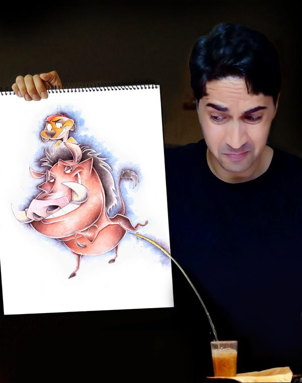 Timon And Pumba by mokhallad-habib
