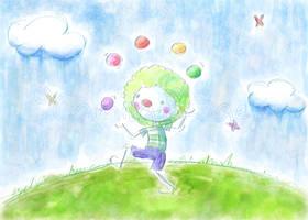 Happy clown by Camila-E-Saez