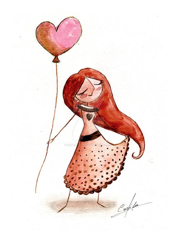 globo de corazon by Camila-E-Saez