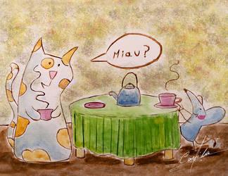 Gato Con Raton