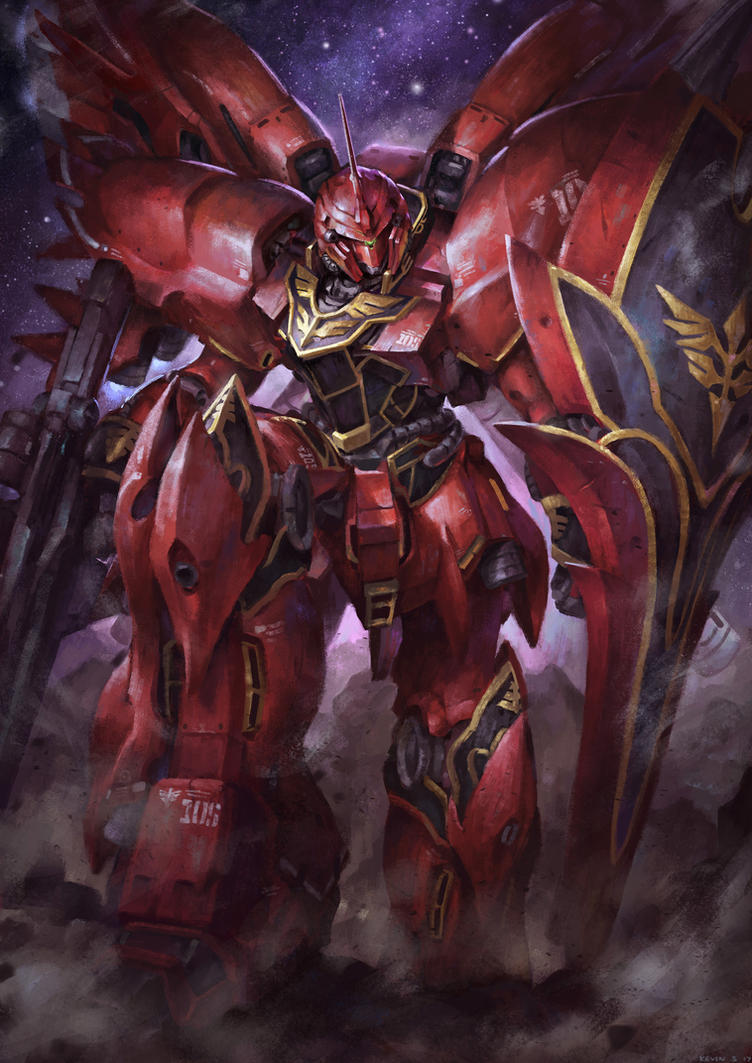 Commissioned Work - Gundam Sinanju by kevinsidharta